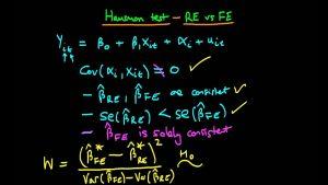 آزمون هاسمن برای داده پانلی (Hausman Test) — به زبان ساده