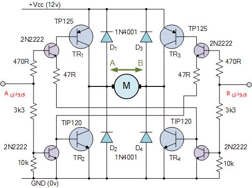 پیکربندی پل H ترانزیستوری