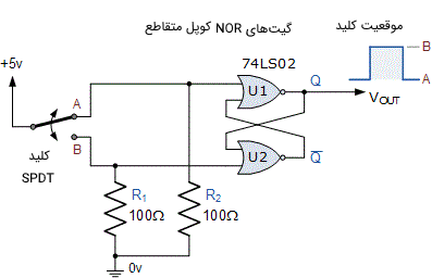 مدار واسط ورودی دیبانس کلیدزنی با استفاده از گیتهای NOR