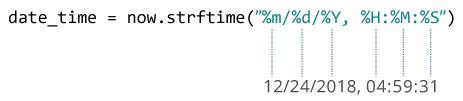 متد ()strftime در پایتون -- به زبان ساده