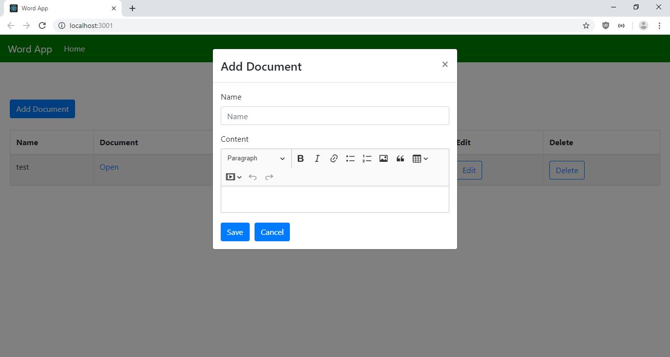 ایجاد اسناد ورد با Node.js