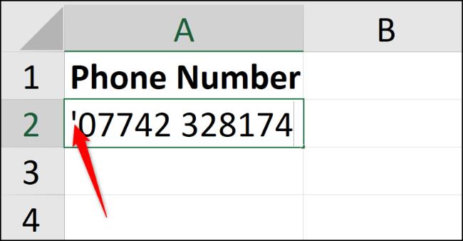 وارد کردن صفر ابتدایی پیش از اعداد در اکسل