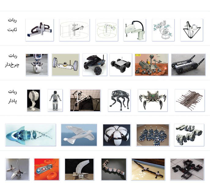 انواع مختلف رباتها