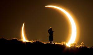 خورشید گرفتگی حلقه ای — تصویر نجومی روز