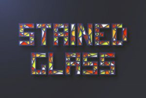 طراحی جلوه متنی شیشه رنگی در ایلاستریتور — راهنمای گام به گام