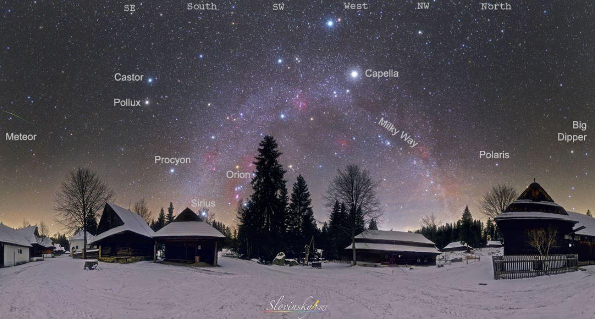 ستارگان زمستانی -- تصویر نجومی روز