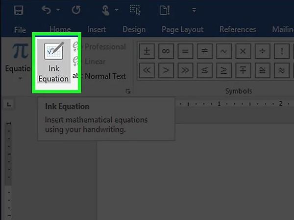 نوشتن فرمول در ورد