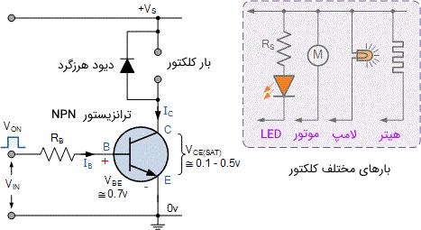 مدار کلید ترانزیستوری ساده