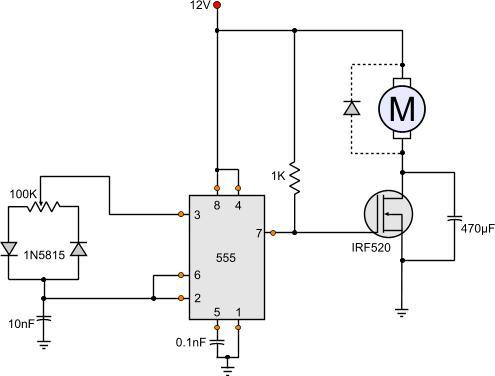 مدار کنترل سرعت موتورهای جریانبالا
