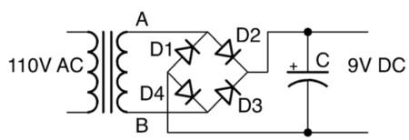 مدار یکسوساز تمامموج با صافی خازنی