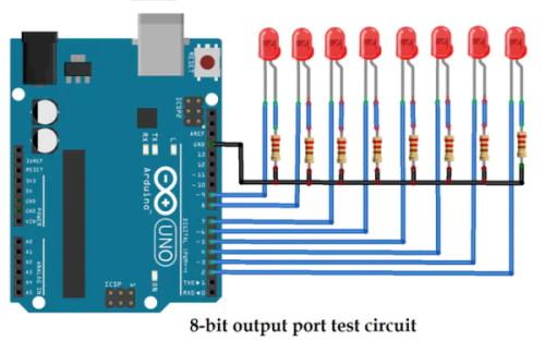 کنترل LED با برد Arduino