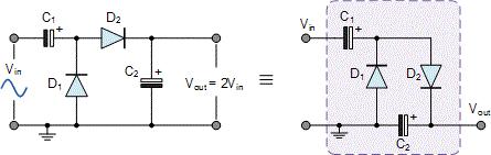 مدار دو برابر کننده ولتاژ