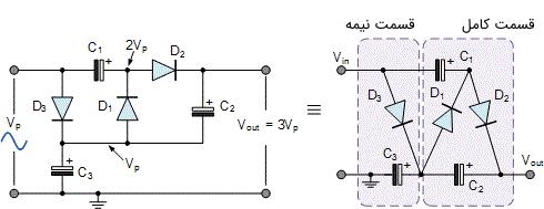 مدار سه برابر کننده ولتاژ