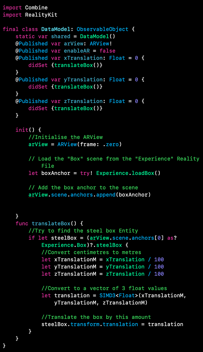 ساخت اپلیکیشن AR با RealityKit و SwiftUI
