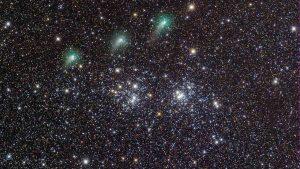 خوشه های ستاره ای و ستاره دنباله دار — تصویر نجومی روز