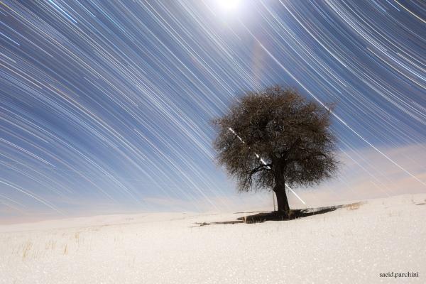 رد ستارگان شمال و جنوب -- تصویر نجومی روز