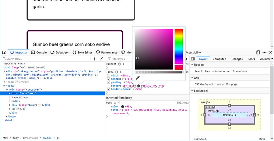 دیباگ کردن CSS