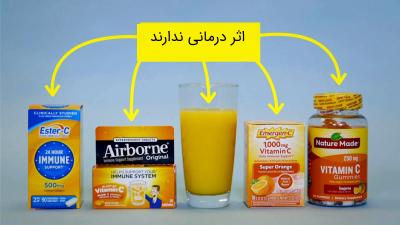 تاثیر ویتامین C در سرماخوردگی