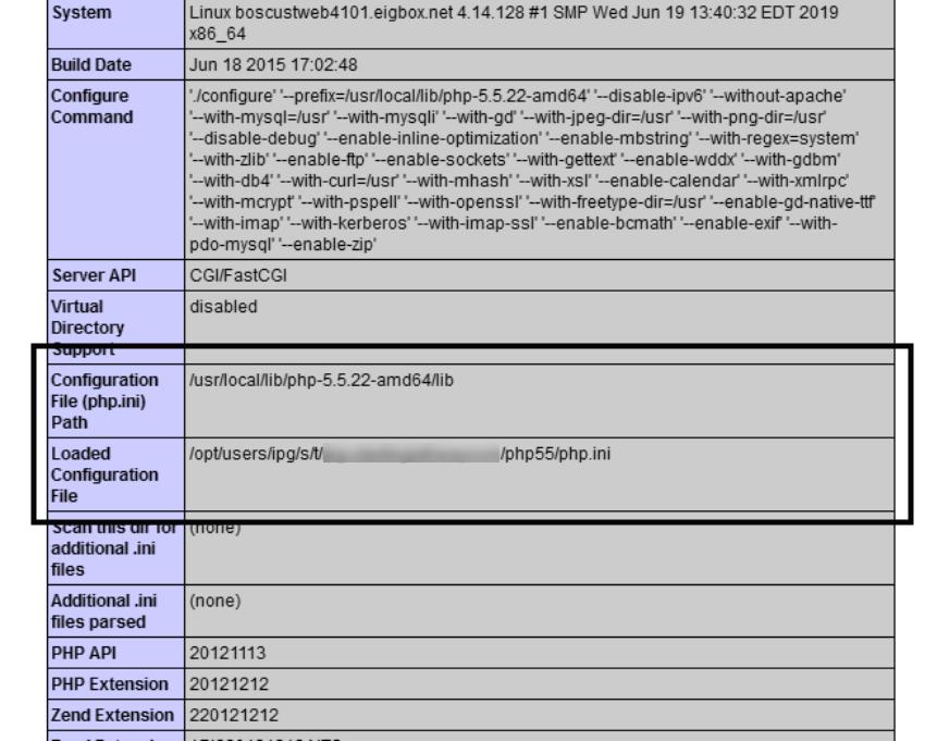 فایل پیکربندی PHP