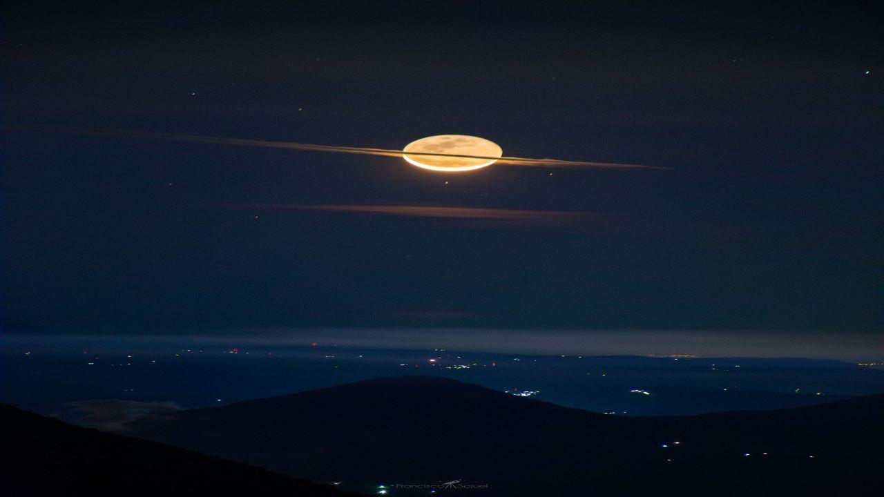 ماه در پوشش زحل — تصویر نجومی روز