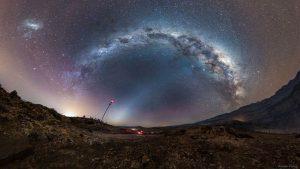 راه شیری و نور منطقه البروجی — تصویر نجومی روز
