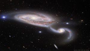 برخورد کهکشان های NGC 5394 و NGC 5395 — تصویر نجومی روز