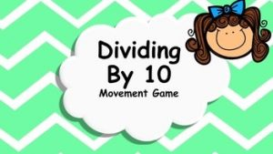 movment digits in division by 10