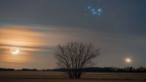 چشم اندازی از یک مثلث کیهانی — تصویر نجومی روز