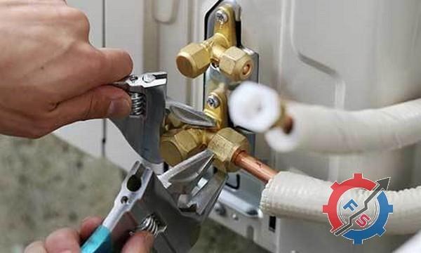 وصل کردن لولههای مسی کولر گازی