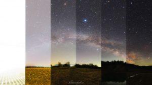 آلودگی نوری در آسمان شب — تصویر نجومی روز