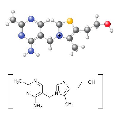 ساختمان شیمیایی ویتامین ب ۱