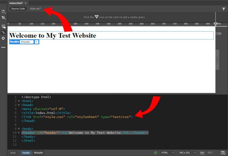 ویرایش کدهای CSS در Dreamweaver