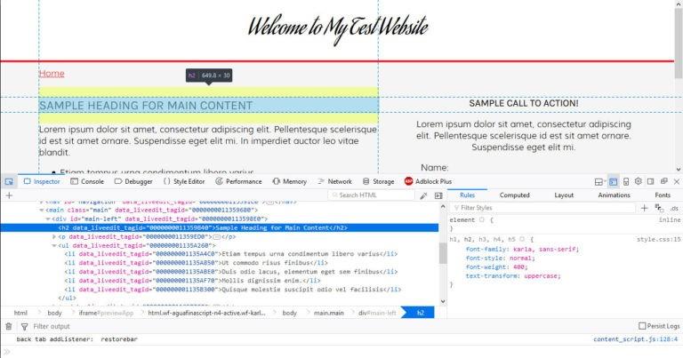 ویرایش کد در دریم ویور