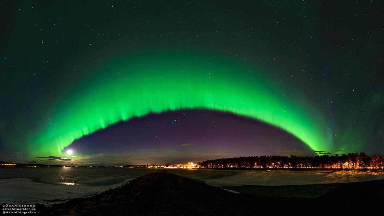 شفق قطبی بر فراز سوئد — تصویر نجومی روز