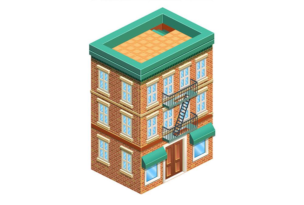 طراحی ساختمان ایزومتریک در ایلاستریتور — راهنمای گام به گام