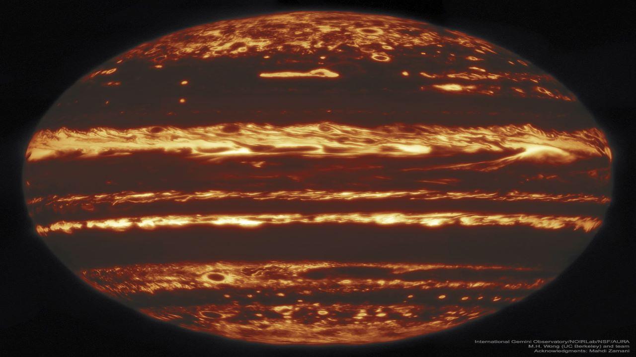 تصویر فروسرخ از سیاره مشتری — تصویر نجومی روز