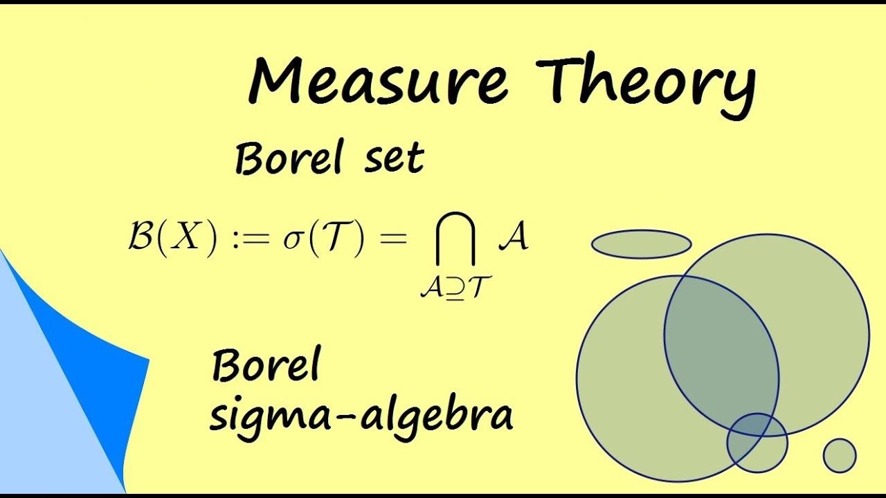 مجموعه بورل در نظریه اندازه | به زبان ساده