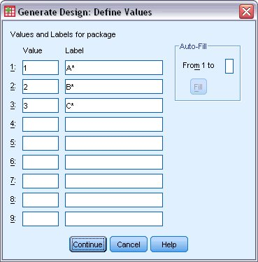 orthagonal define value in spss