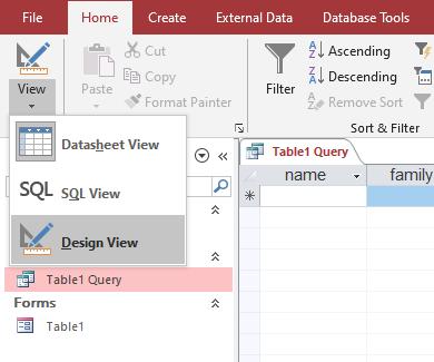 query design command