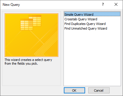 query types in access