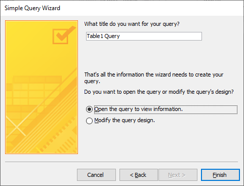 simple query wizard final