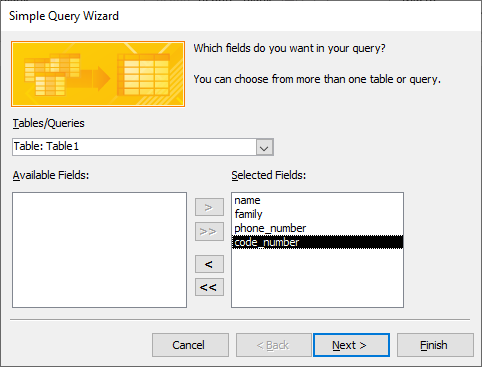 simple query wizard