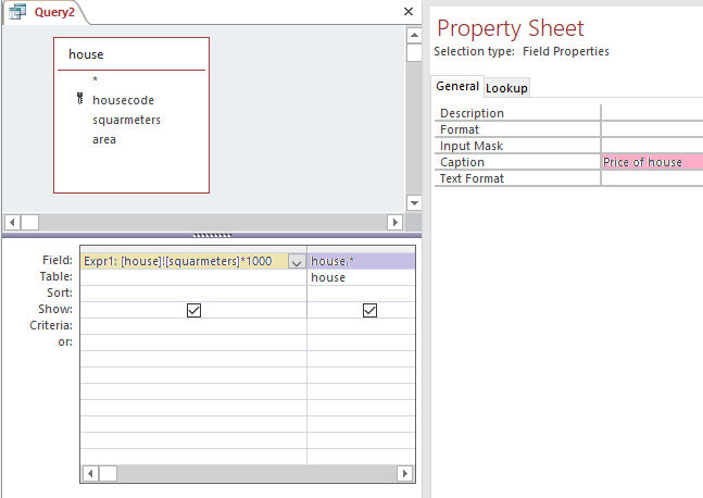 calculation in select query