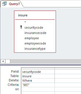 delete query with where