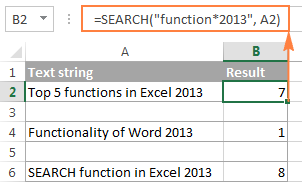 excel wildcard search