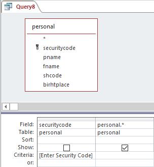 parametric query