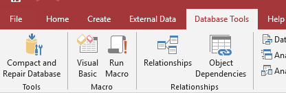 relationship command in access