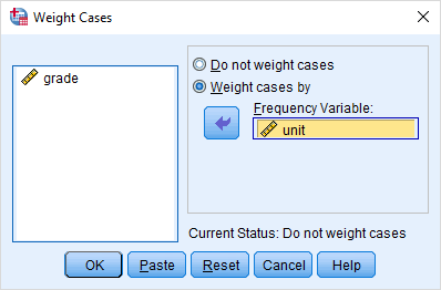 weight cases dialogbox