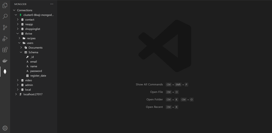 MongoDB در VS Code