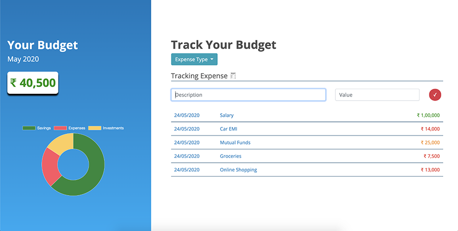 ساخت اپلیکیشن مدیریت هزینه با جاوا اسکریپت